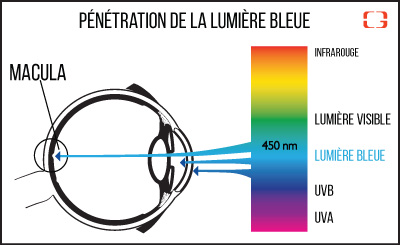 explication de la lumiere bleue longeur d'onde
